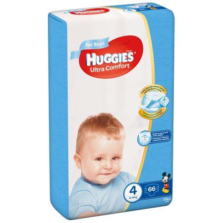 Scutece Huggies Ultra Confort, Boy, nr4, 8-14kg, 66buc.
