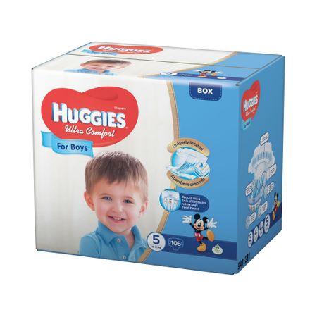 Scutece Huggies Ultra Confort, Boy, nr5, 12-22kg, 105buc.