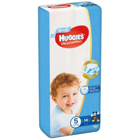 Scutece Huggies Ultra Confort, Boy, nr5, 12-22kg, 56buc.