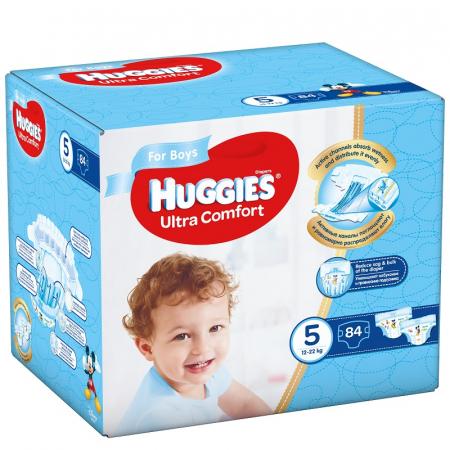 Scutece Huggies Ultra Confort, Boy, nr5, 12-22kg, 84buc.