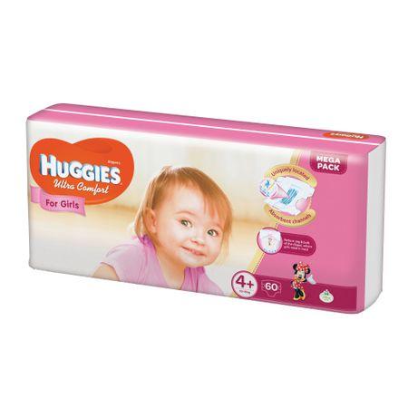 Scutece Huggies Ultra Confort, Girl, nr4+, 10-16kg, 60buc.