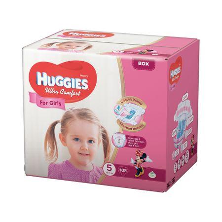 Scutece Huggies Ultra Confort, Girl, nr5, 12-22kg, 105buc.