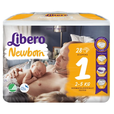 Scutece Libero Baby Soft, New Born, nr1, 2-5kg, 28 buc