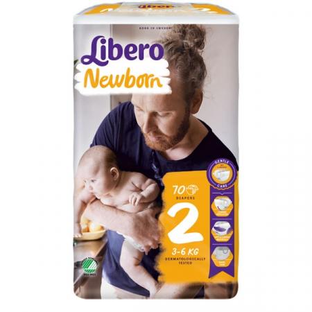 Scutece Libero Baby Soft, nr2, 3-6kg, 70 buc