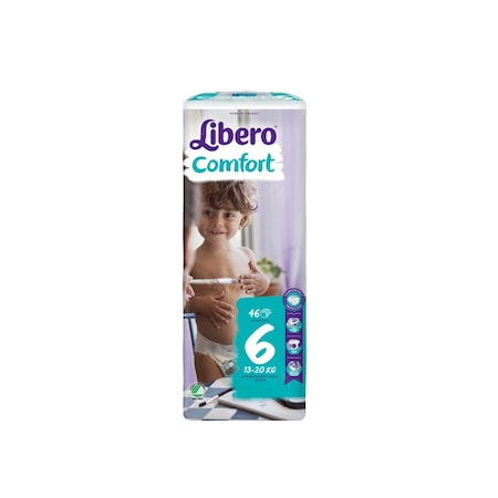 Scutece Libero Comfort, nr6, 13-20kg, 46 buc