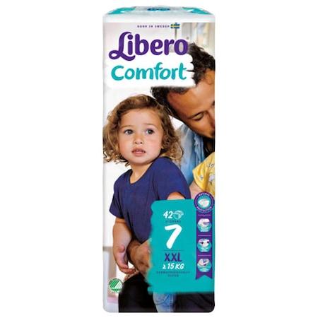Scutece Libero Comfort, nr7, >15kg, 42 buc