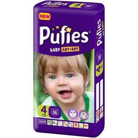 Scutece Pufies Baby Art Dry, nr4 MP, Maxi, 7-14 kg, 56 buc.