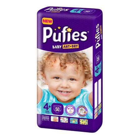 Scutece Pufies Baby Art Dry, nr4+ MP, Maxi+, 9-16 kg, 50 buc.