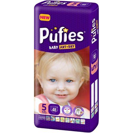 Scutece Pufies Baby Art Dry, nr5 MP, Junior, 11-20 kg, 48 buc.