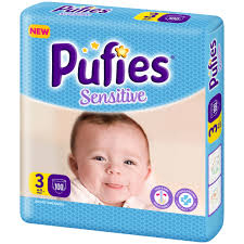 Scutece Pufies Sensitive nr3, Midi BP, 4-9 kg100 buc.
