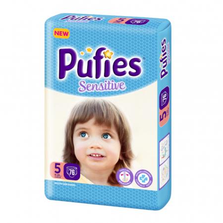 Scutece Pufies Sensitive, nr5 BP, Junior, 11-20 kg, 76 buc.