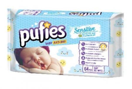 Servetele Umede Pufies Sensitive, 4 x 64 buc1
