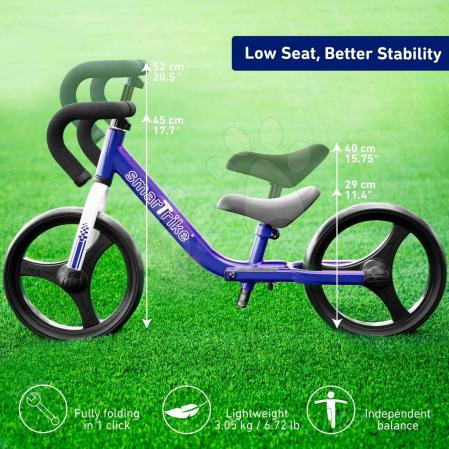 SmarTrike® Folding Bicicleta fara Pedale, cu manere ergonomice, Albastru [1]