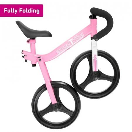 SmarTrike® Folding Bicicleta fara Pedale, cu manere ergonomice, Roz [1]