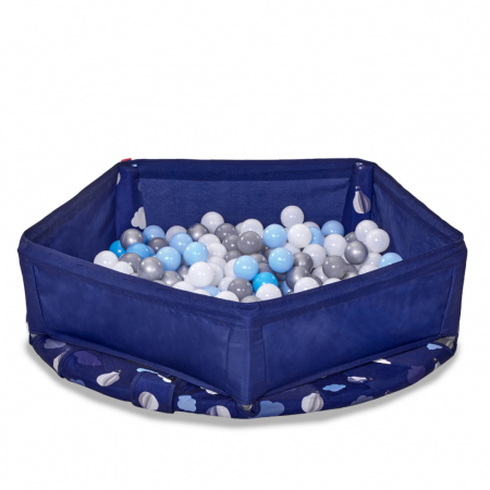SmarTrike® Jump 3 in 1, Trambulina pliabila si piscina cu bile, Albastru [1]