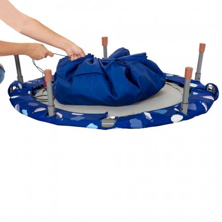 SmarTrike® Jump 3 in 1, Trambulina pliabila si piscina cu bile, Albastru [3]