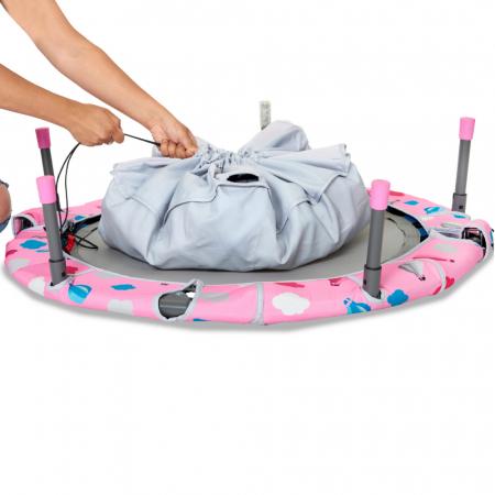 SmarTrike® Jump 3 in 1, Trambulina pliabila si piscina cu bile, Roz [2]