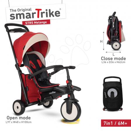 SmarTrike Tricicletă pliabilă Smart fold 7w1 Stroller Gri Melange, de la 9 luni [0]
