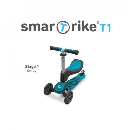SmarTrike® Trotineta T1 Scooter, incepand cu 15 luni, Albastru [1]