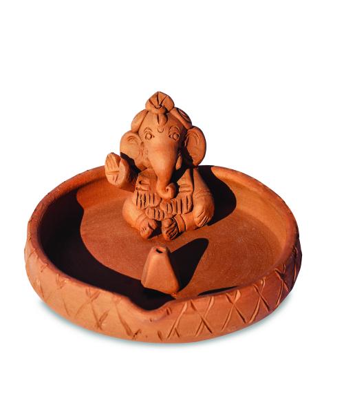 Ganesha - Fontă diam. 12 cm - Suport pentru Bețișoare 0