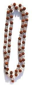 Mala din semințe Rudraksha și Cristale 0
