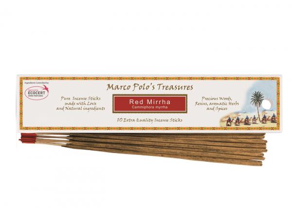 Smirnă Roșie - 10 Bețișoare - Bețișoarele lui Marco Polo 0