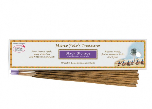 Styrax Negru - 10 Bețișoare - Bețișoarele lui Marco Polo 0