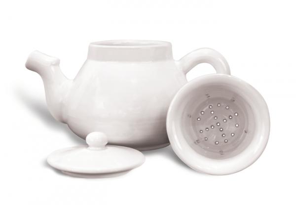 Ceainic Mare Ceramică Albă 0