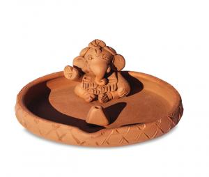 Ganesha - Fontă diam. 12 cm - Suport pentru Bețișoare