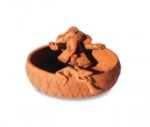 Ganesha Mare diam 13 cm - Suport pentru Bețișoare