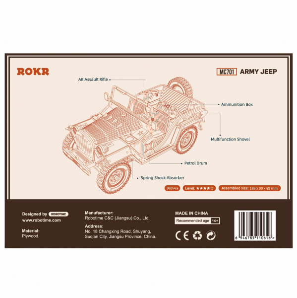 Puzzle 3D Army Jeep [10]