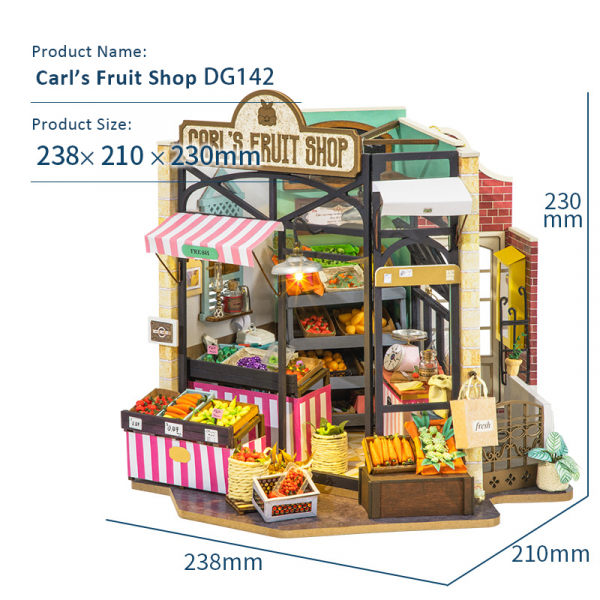 Puzzle 3D Carl's Fruis Shop [2]