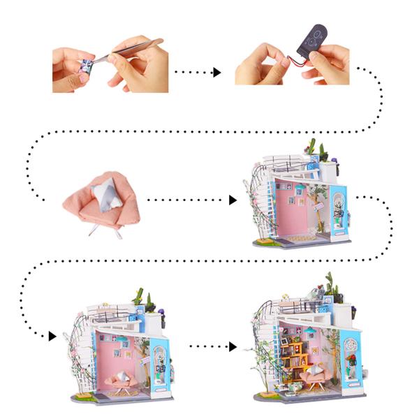 Puzzle 3D Dora's Loft [8]