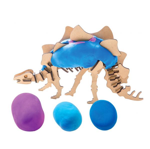 Puzzle 3D Modeling Clay Stegosaurus [3]