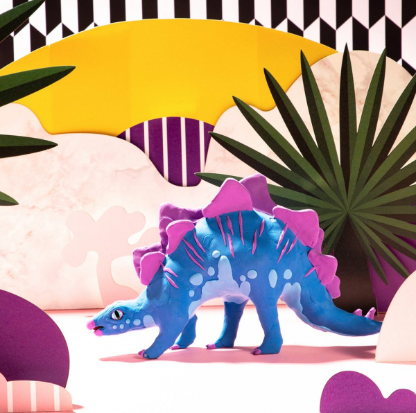 Puzzle 3D Modeling Clay Stegosaurus [5]