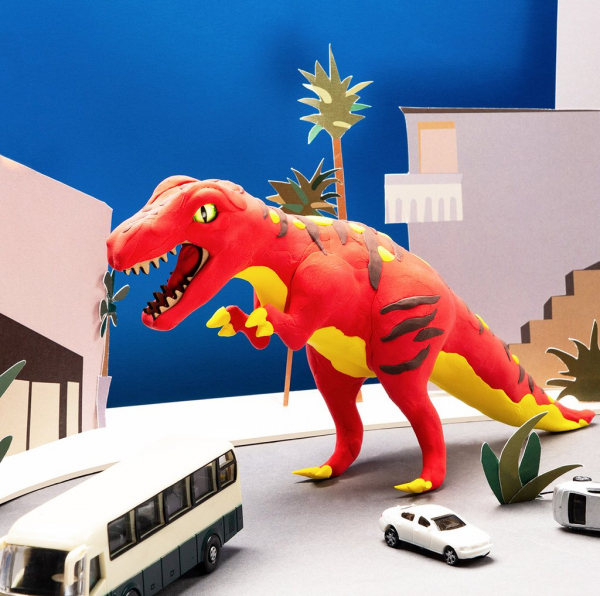 Puzzle 3D Modeling Clay T-Rex [6]