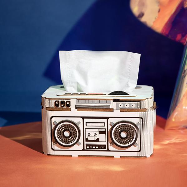 Puzzle 3D Rock Radio Tissue Box [4]