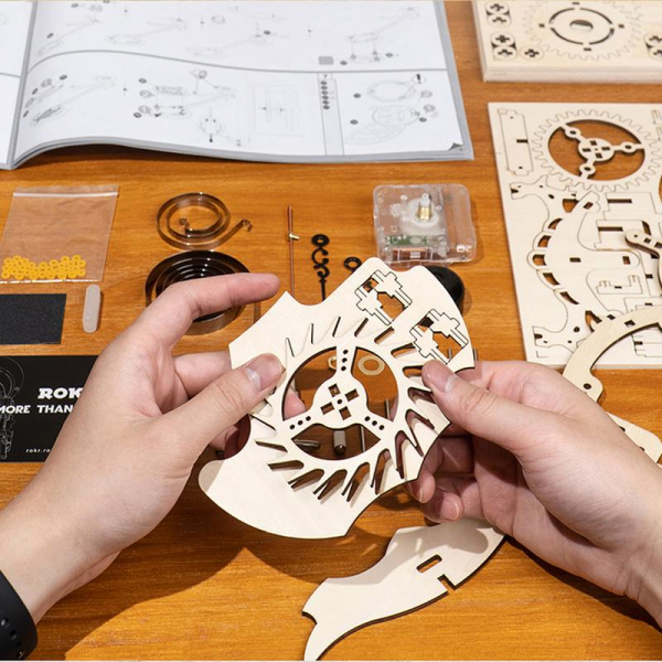 Puzzle 3D Owl Clock [3]