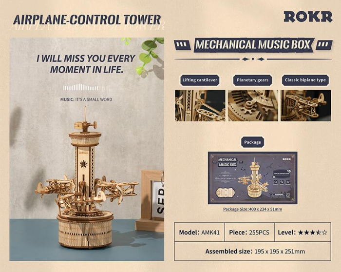 Puzzle 3D Airplane Control Tower [7]