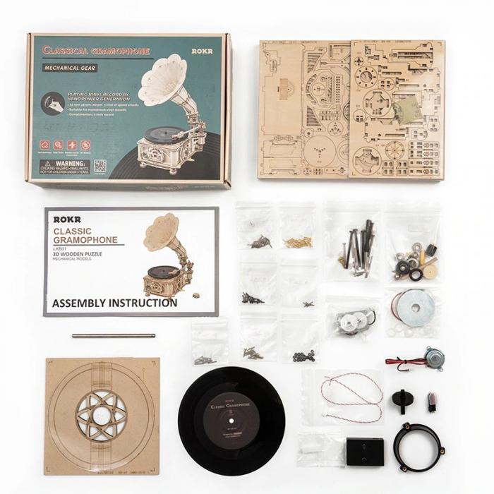 Puzzle 3D Gramophone [9]