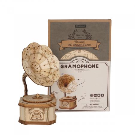 Puzzle 3D Gramofon [1]