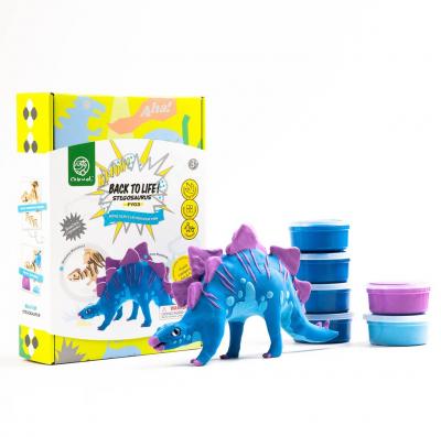 Puzzle 3D Modeling Clay Stegosaurus [4]