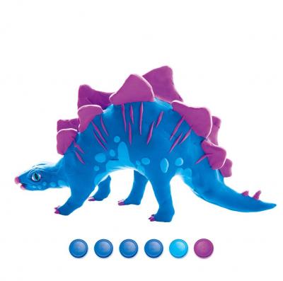 Puzzle 3D Modeling Clay Stegosaurus [0]