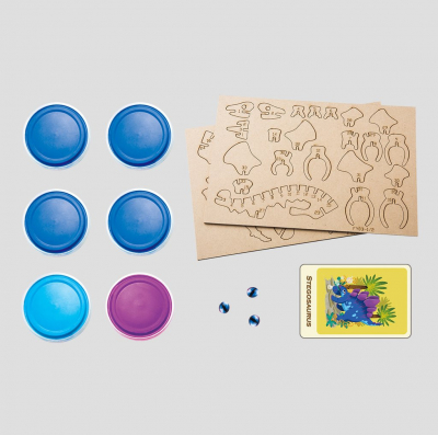 Puzzle 3D Modeling Clay Stegosaurus [8]