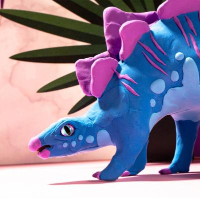 Puzzle 3D Modeling Clay Stegosaurus [6]