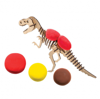 Puzzle 3D Modeling Clay T-Rex [2]