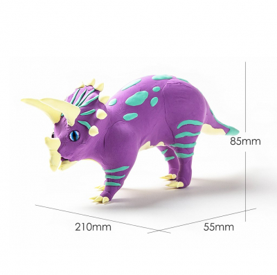 Puzzle 3D Modeling Clay Triceratops [1]