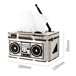 Puzzle 3D Rock Radio Tissue Box [1]