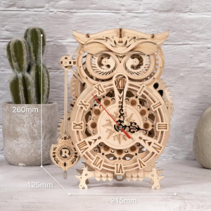Puzzle 3D Owl Clock [1]