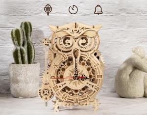 Puzzle 3D Owl Clock [2]